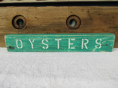 21 Inch Wood Hand Painted Oysters Sign Nautical Maritime Seafood (#S411)