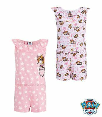 Paw Patrol Girls Summer One Piece Outfit Set Short Playsuit Dress 100% Cotton