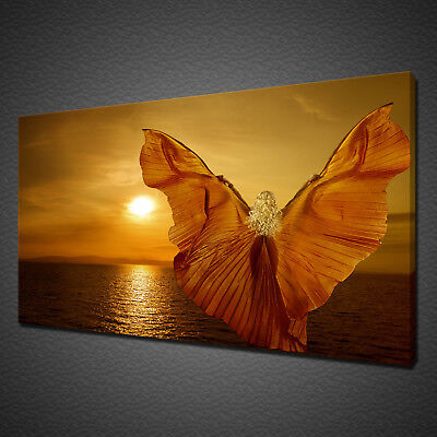 Sunrise Butterfly Woman Wall Art Canvas Print Picture Variety Of Sizes