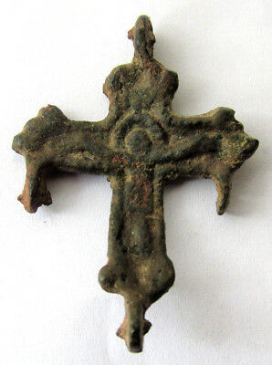 Bronze Ancient Christian Byzantine Cross Artifact (#2)