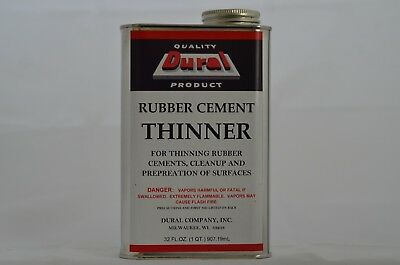 Dural Rubber Cement Thinner 1 QT