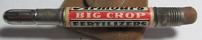 Armour's Big Crop Fertilizer Advertising Bullet Pencil, Sandusky Ohio Farm adv