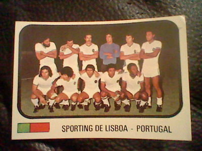 FHER 1975 never used    TEAM BENFICA football team  PORTUGAL SPANISH card ED