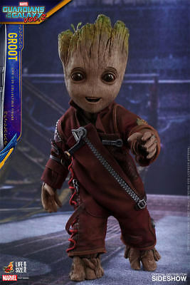 MARVEL Groot Life-Size Action Figure Hot Toys Guardians of Galaxy Vol 2 LSM004
