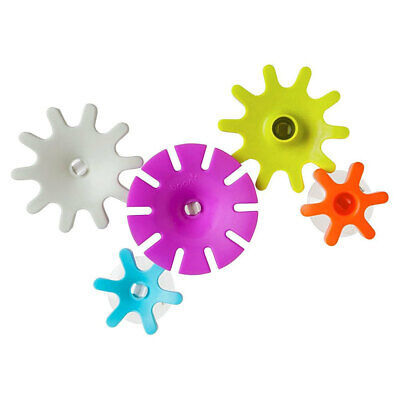 Boon 5pc Cogs Building Gears Bath Time Floating/Suction Toys for Baby/Kids Play
