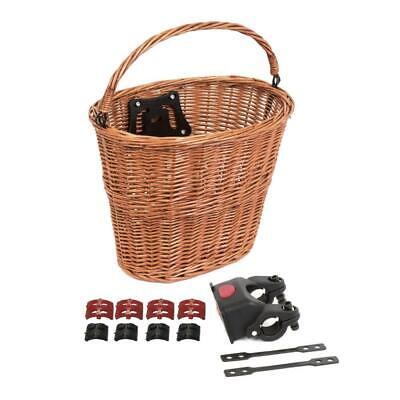 Quick Release Wicker Bicycle Bike Basket - Tan