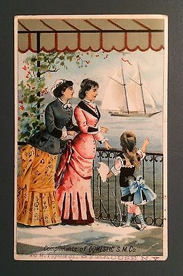 Victorian Trade Cards - Domestic S M Co - Syracuse, NY Stamp on Front - 1800's