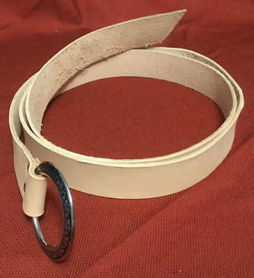 """1.5"""" Wide Natural Leather Ring Belt; 10 Sizes! SCA, Cosplay, LARP, Pirate Faire"""