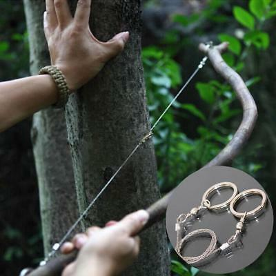 Outdoor Emergency Steel Wire Saw Scroll Travelling Camping Hiking Survival aua