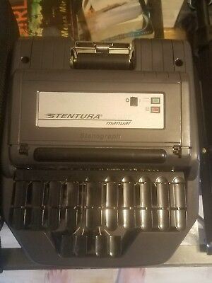 Stentura 200 SRT Stenograph Writing Machine With Tripod And Bag and cords