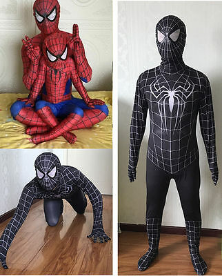 Amazing Spiderman Costume Carnevale Bambino Uomo Dress up Cosplay Costume New