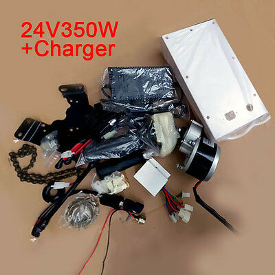24V Modified Electric Bicycle Motor Conversion Kit + Charger Controller 350W BIN