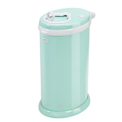 New Ubbi Nappy Diaper Pail Bin Mint Eco Friendly Newborn Baby