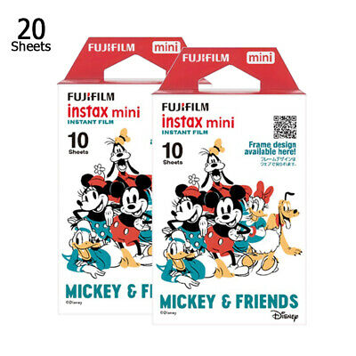 Fujifilm Instax Mini Disney Mickey 20 Photos Film For Fuji 8 9 70 90 Camera SP-1