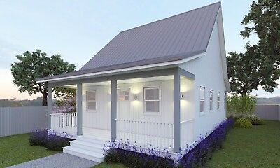 59 m2 Cottage Style House Plan For Sale - Granny Flat Design 2 Bed + Deck
