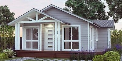 82.7 Hamptons Style House Plan 59 m2  For Sale - Granny Flat 2 Bed + Study Nook