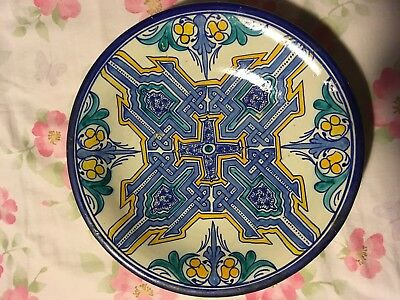 Colorful Tin Glaze Footed Bowl Persian Islamic, Iznik