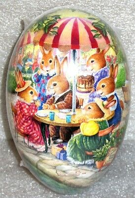 "Vintage Easter Egg (3x2"") HAPPY EASTER PARTY Holly Pond Hill MINT/SEALED German"