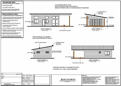 Kit Home Skillion Roof House Plan 59 m2  2 Bed + 1 Bath + Alfresco For Sale