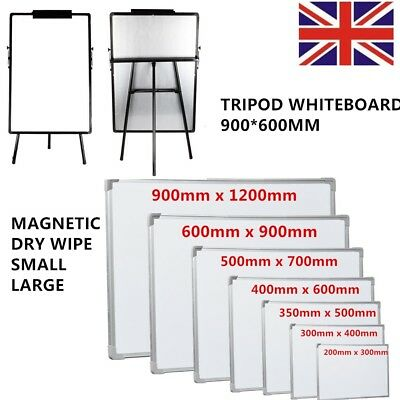 Large Magnetic Dry Wipe White Board Drawing Board&eraser Flip Chart Notice Memo
