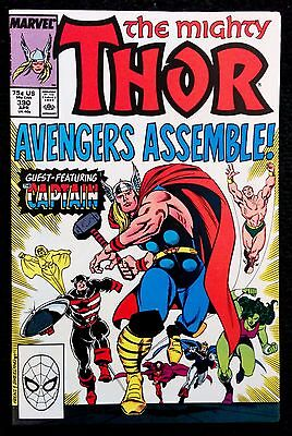 The Mighty Thor #390. First time Captain America holds Thor's Hammer.
