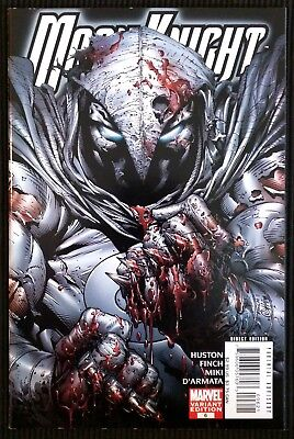 Moon Knight #6 1:10 Bloody Knuckles Variant (Nov 2006, Marvel). David Finch.