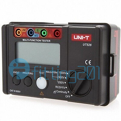 Electrical Insulation Tester UNI-T UT526 1000V 500MΩ RCD Test Continuity VAC/DC