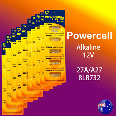 50 x 27A Powercell 12V 27A/A27 Battery Batteries Garage Car Remote Alarm