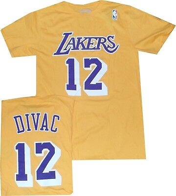 Los Angeles Lakers Vlade Divac Throwback Adidas T Shirt Limited Quantities cc86bef97