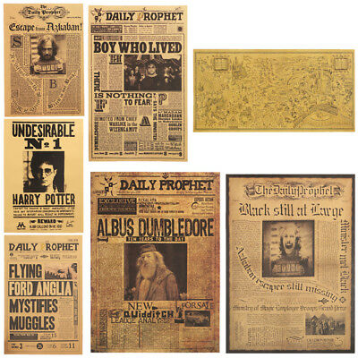 42x30CM Harry Potter Movie Paper Posters Wall Decrative Painting Brown Paper