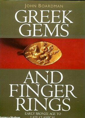 HUGE Greek Intaglio Gems Finger Rings Bronze Age Crete Mycenae Persia Classical