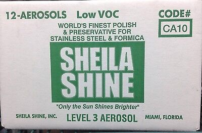 One Case Sheila Shine Low VOC Stainless Steel Cleaner/Polish.10 Oz. Aerosol Cans