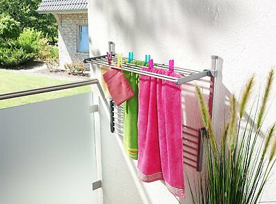 RUCO V808 Balcony Clothes Horse Dryer Airer Washing Hanger Drying Rack Laundry