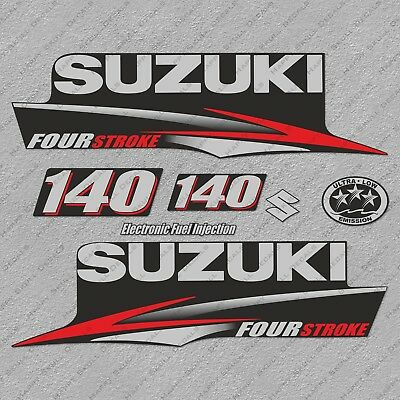 SUZUKI 5HP FOUR Stroke Outboard Engine Decals Sticker Set
