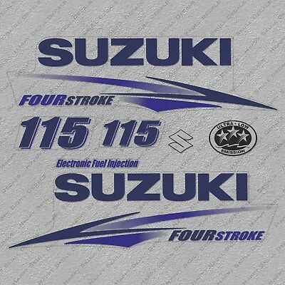 Suzuki 250HP Four Stroke Outboard Engine Decals Sticker Set reproduction 250 HP
