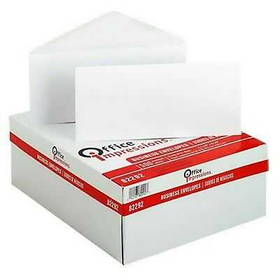"500 Plain Windowless #10 Envelope 4-1/8"" x 9-1/2"" White Gummed Flap"