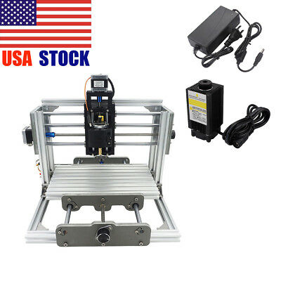 3 Axis CNC Router Milling Wood Engraving Machine Printer + 500mw Laser Engraver