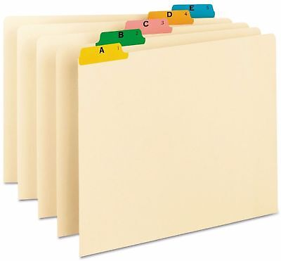 Smead Recycled Top Tab File Guides 1/5 Tab Letter Alphabet 1 Set Manila