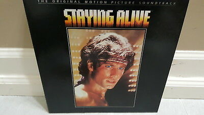 STAYING ALIVE JOHN TRAVOLTA 1983  MOTION PICTURE SOUNDTRACK  Record Album Vinyl