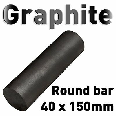 "Carbon Electrode Rod Graphite Stick 1.6"" x 6"" L round bar anode 40 x 150mm"
