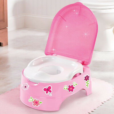 My Fun 3 in 1 Potty, Toilet Trainer Seat & Step-Stool + Toddler Reward Stickers
