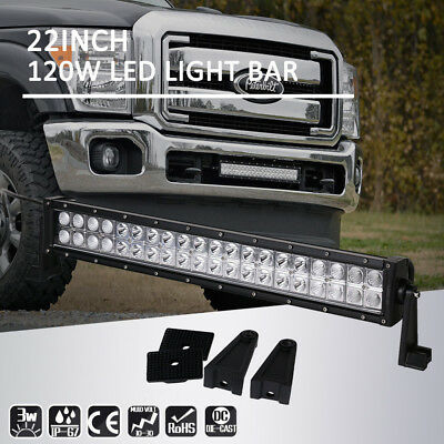 24inch 120w Led Light Bar Work Driving Truck SUV Offroad Combo Beam 20Inch