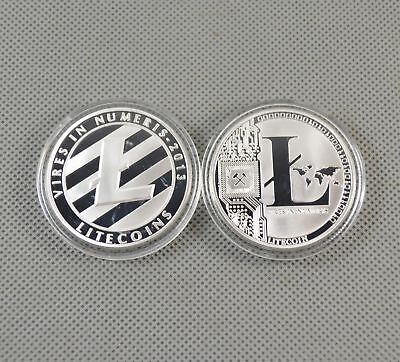 Silver Plated Commemorative Litecoin Collectible Golden Iron Miner Coin