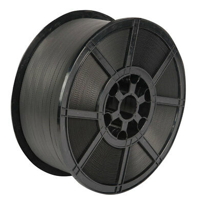 Strapping, polypropylene, 16 x 0.8mm x 800mtr, plastic reel, black