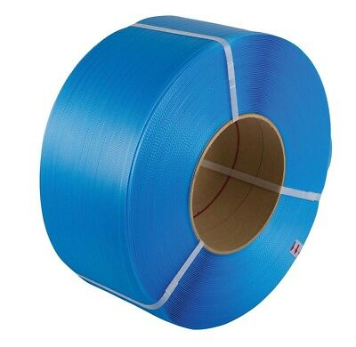 Strapping, polypropylene, 12 x 0.9mm x 1000mtr, blue