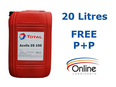 Total Azolla ZS 100 High Performance Hydraulic Oil ISO VG 100 20 L Litres