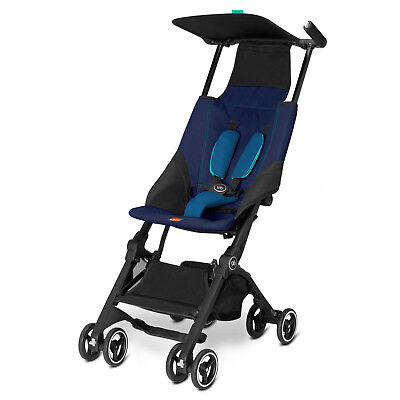 Goodbaby GB Pockit Compact Stroller Seaport Blue Brand New!!