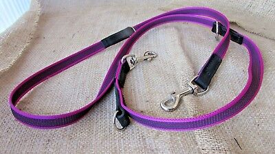 Dog multi point training lead, police style in grippa rein webbing