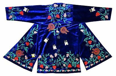 bd481b8eb96 Uzbek Traditional Bukhara Outwear Robe Jacket Coat Unisex Silk Embroidery  A10221