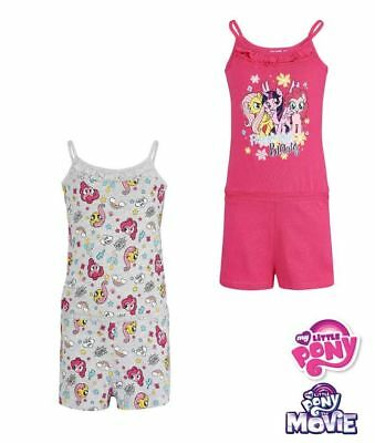 My Little Pony Girls Summer One Piece Outfit Short Summer Playsuit 100% Cotton